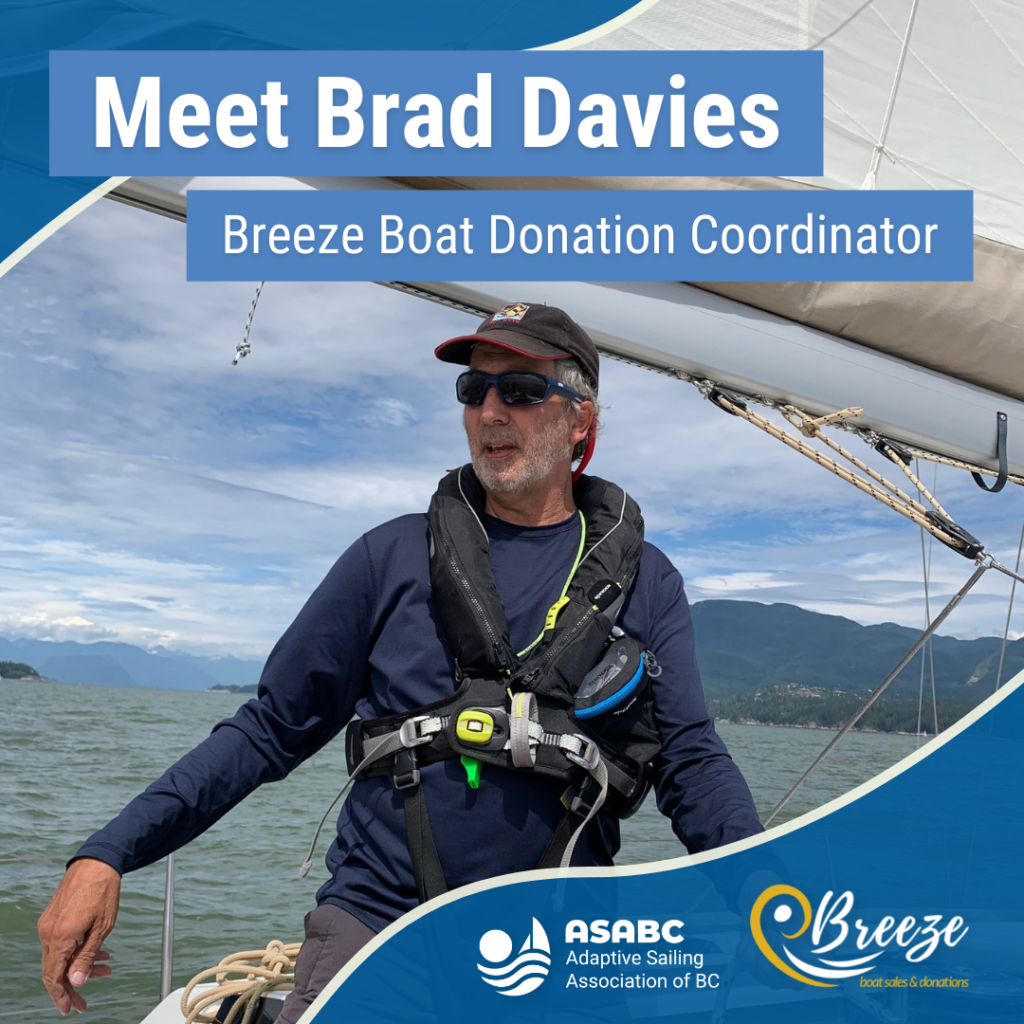 Brad Davies in a Martin 16 Sailboat.